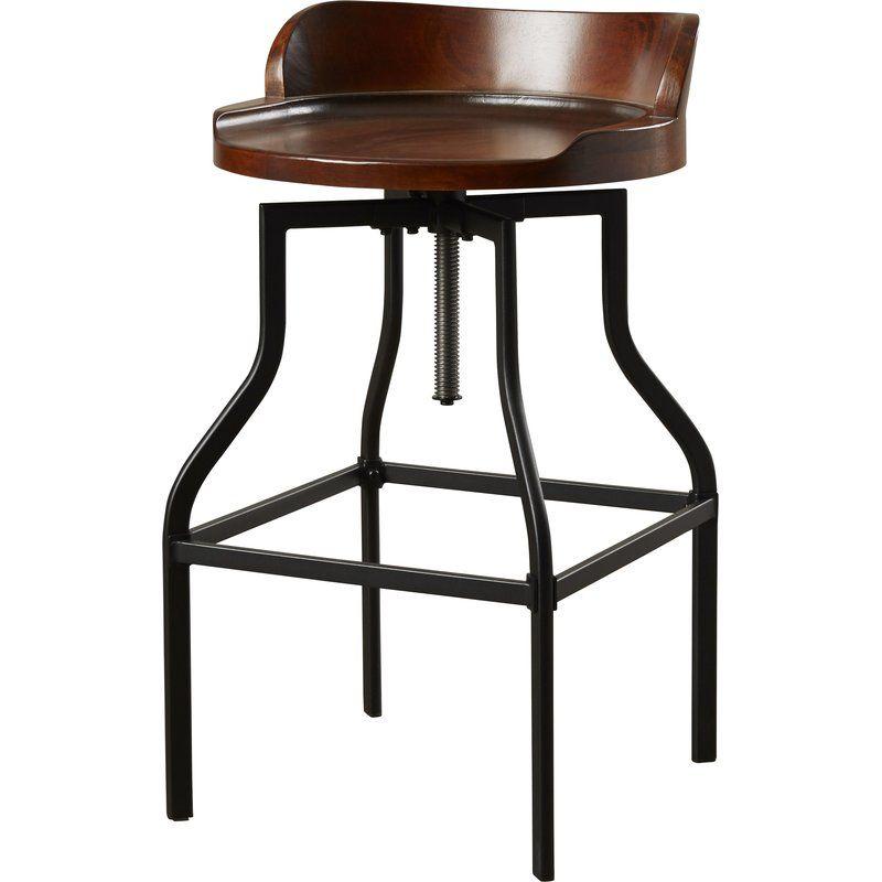Essonnes adjustable height swivel bar stool bar stools