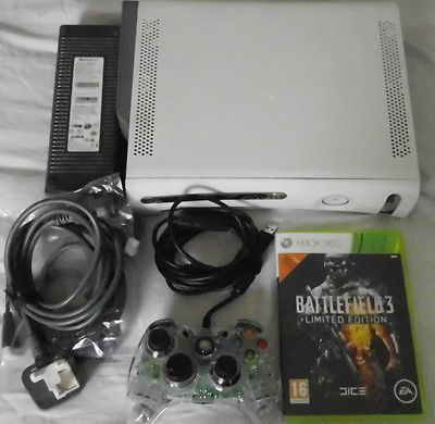 Xbox 360 Console -  60 GB White  Corded Gamepad & 1 Game Good Working Order https://t.co/tOFaSVkO8K https://t.co/OYbBumsE4f