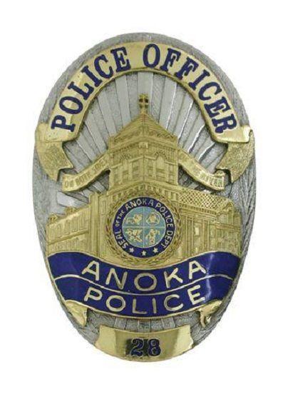 Us State Of Minnesota City Of Anoka Police Department Badge Police Badge Fire Badge Police