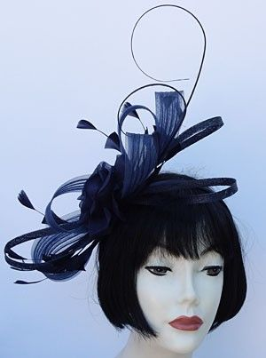 Navy Bow Fascinator from HAT-A-TUDE.COM  92fb6a9d828