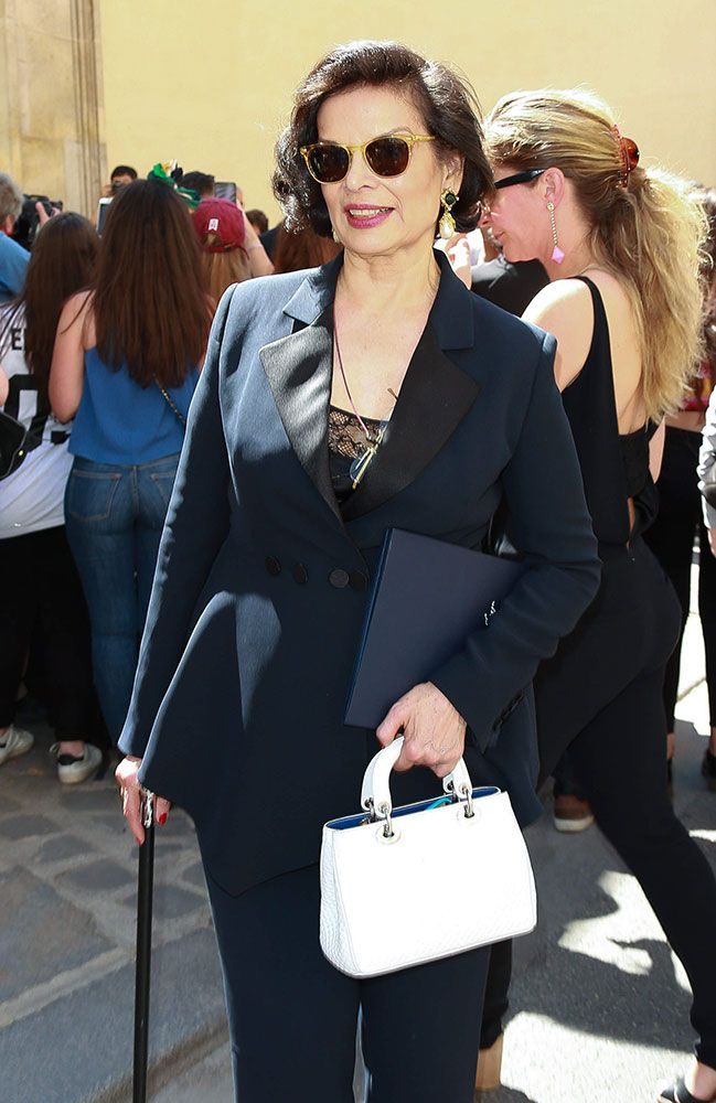 9785de2fb58 45 Celebrities and the Bags They Carried to Paris Haute Couture Week Fall  2015 Bianca Jagger