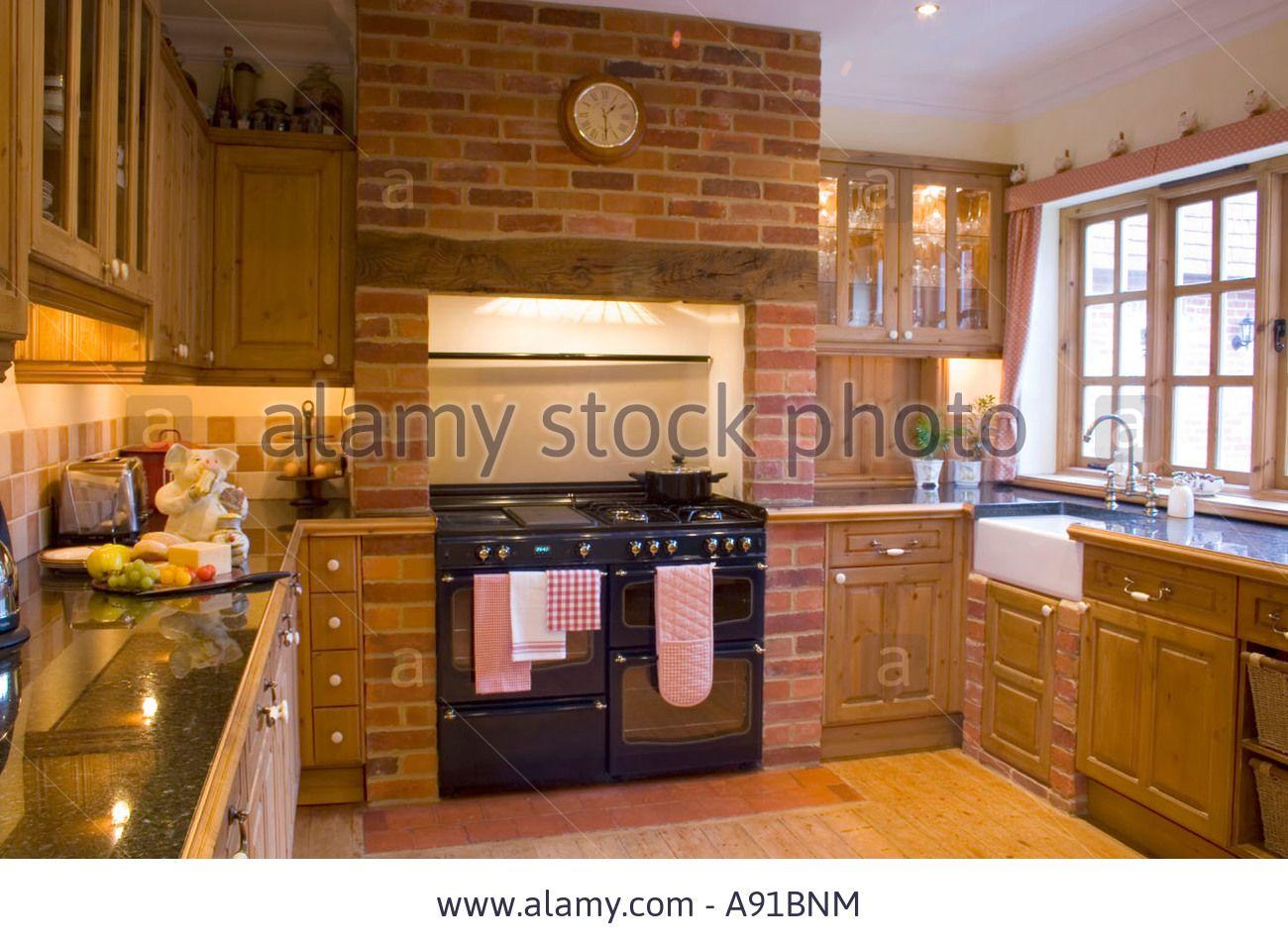 Stock Photo - A traditional farmhouse kitchen   Simple kitchen design, Kitchen design, Country ...