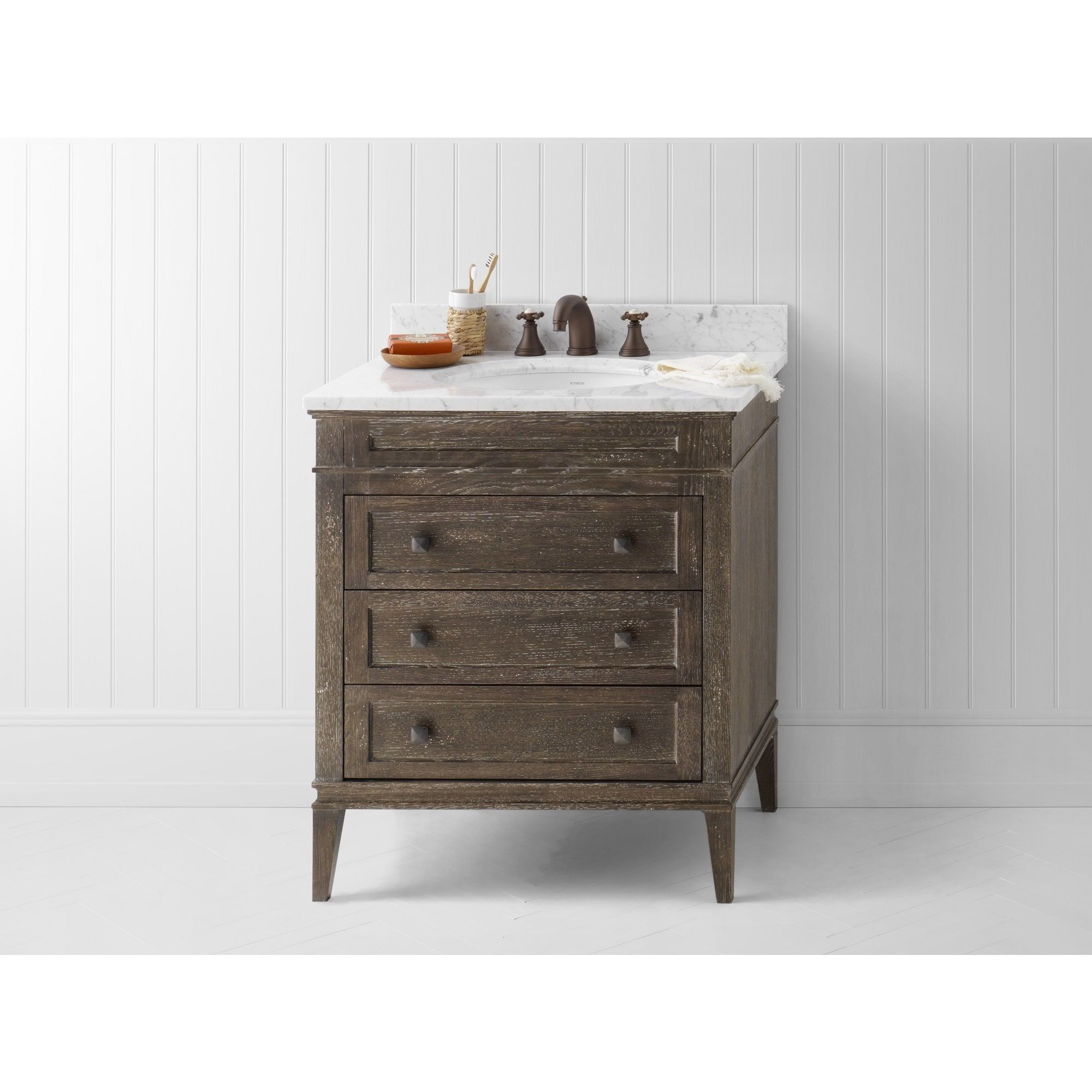 Ronbow Laurel 30Inch Bathroom Vanity Set In Vintage Cafe Captivating Bathroom Vanity 30 Inch 2018
