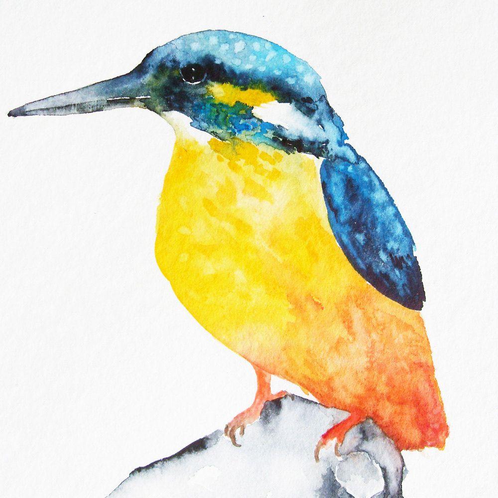 Kingfisher - Original Watercolor Painting