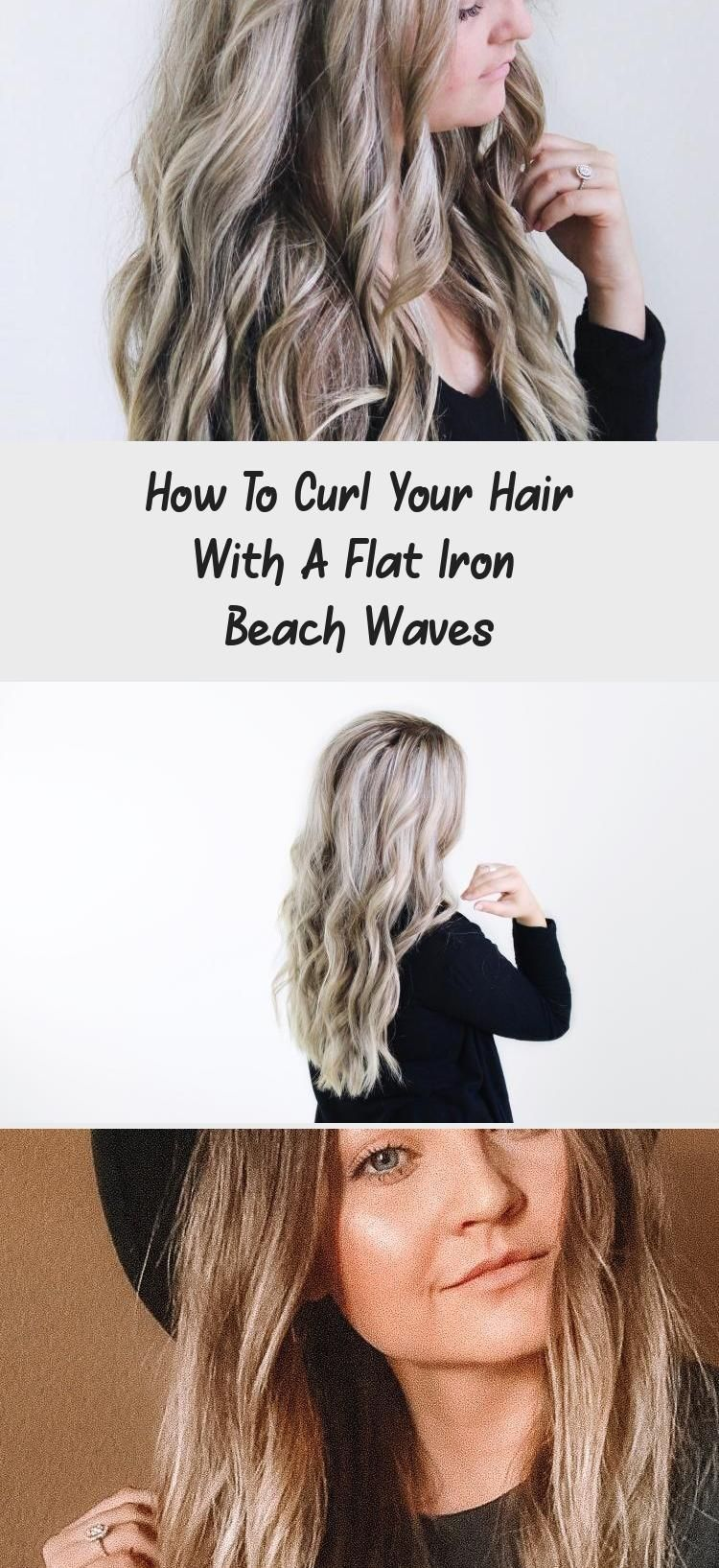 How To Curl Your Hair With A Flat Iron Make Big Curls Or Beach Waves Check Out This Super Easy How To Curl Your Hair Super Easy Hairstyles Curly Hair Styles