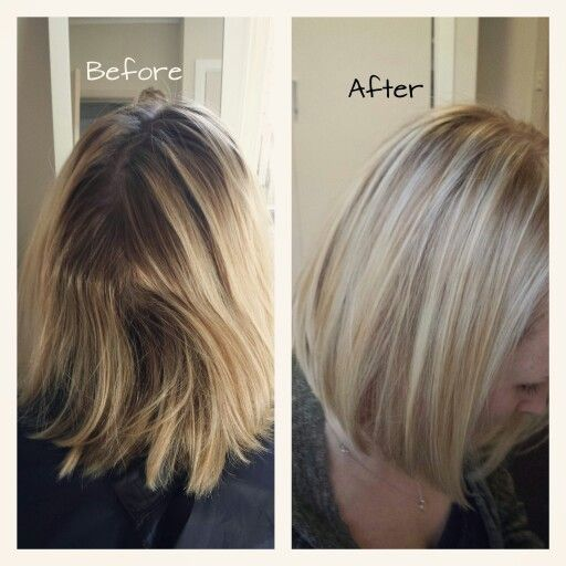 Full head of highlights and 11p matrix toner to break the ...