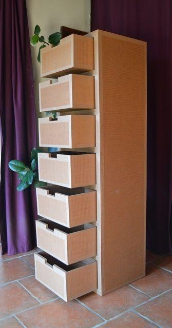 Semainier En Carton Meubles En Carton Angers Rangement Carton Diy Deco Rangement Meubles En Carton
