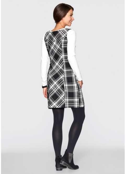 Kleid, bpc bonprix collection, schwarz-weiß kariert ...