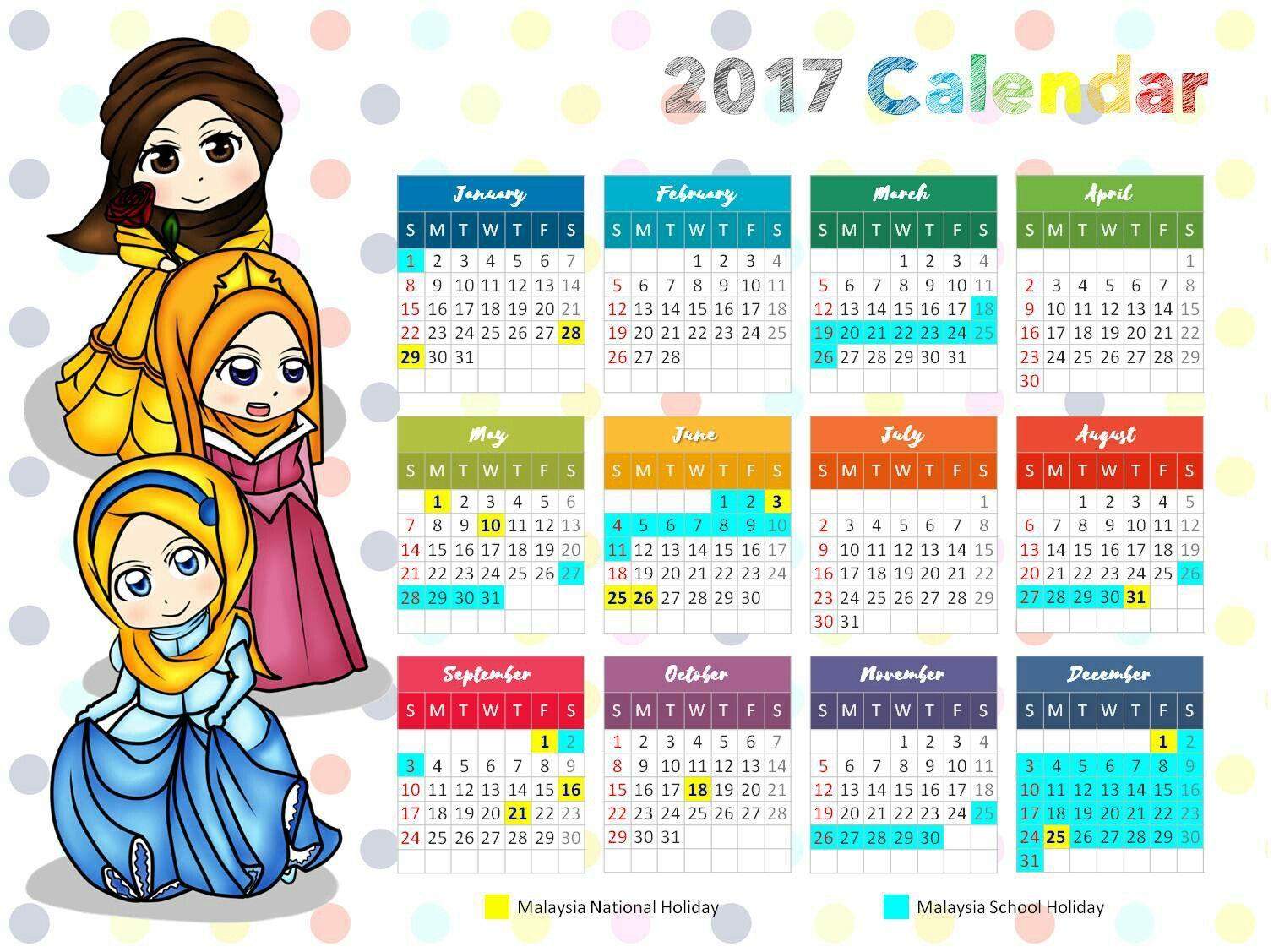 Kalendar Disney Princess Muslimah Percuma