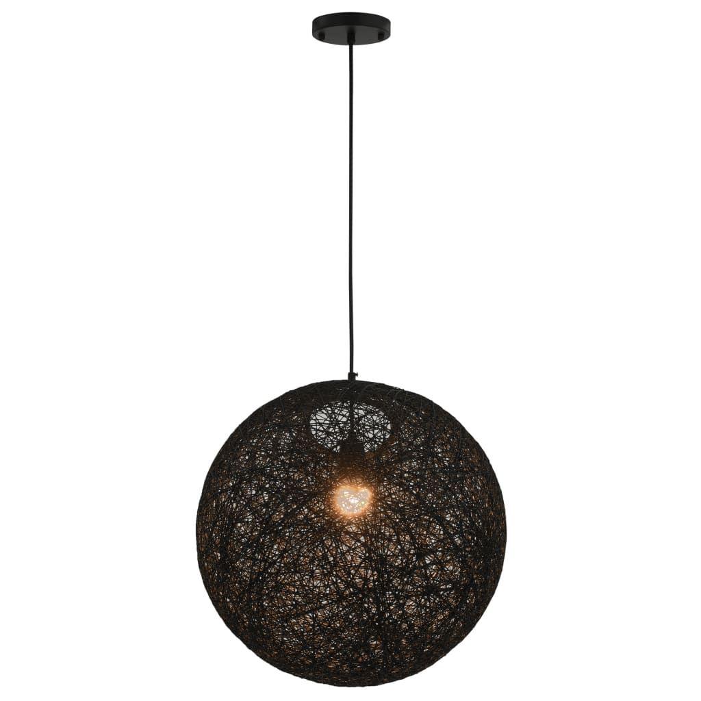 Photo of Hanging Lamp Black Sphere 45 cm E27