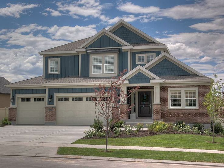 House Colors With Brick And Siding Brick Exterior House House Paint Exterior House Exterior Blue