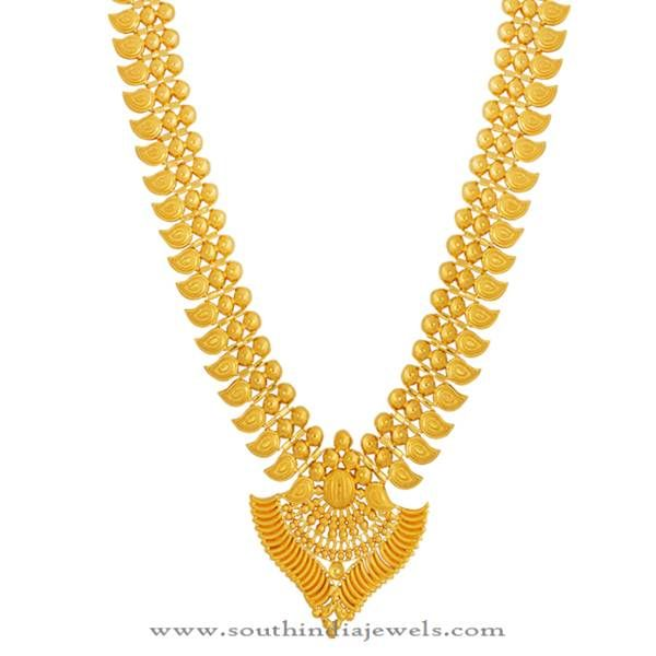 Kerala Gold Haram Design from Lalitha Jewellery Necklace designs
