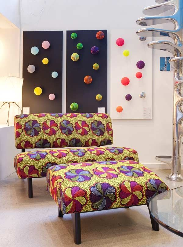 fauteuil africain | Décoration en wax | WaxinDeco - Linge de maison ...