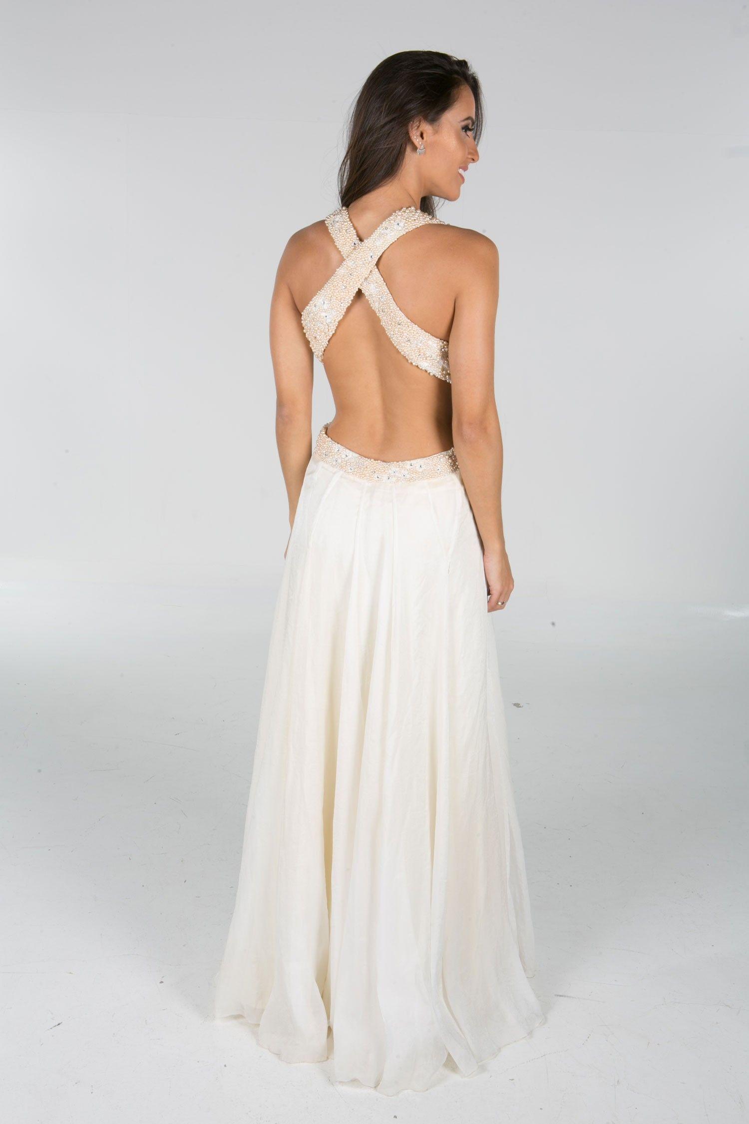 Kelly Costa - Bordado em Pérolas - Longos - Vestidos Novos e Semi-novos