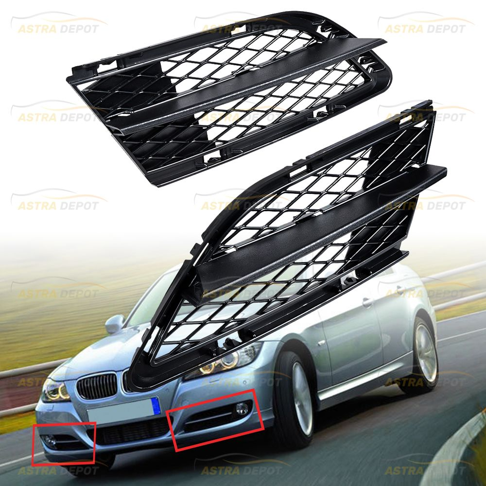 2x Front Bumper Lower Fog Light Grille Mesh Grill Compatible With Bmw E90 E91 Bmw Bmw Performance Bmw E36