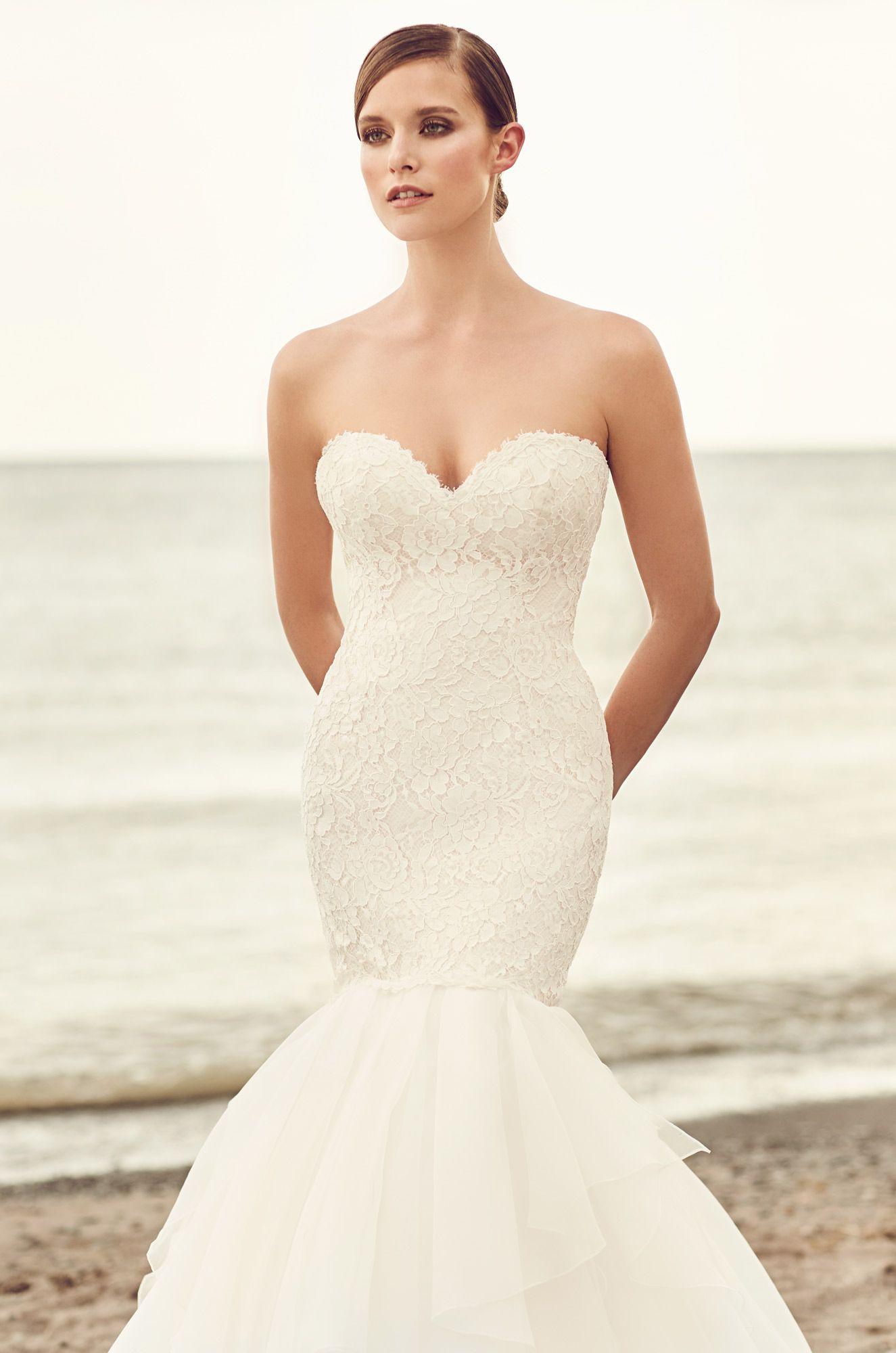 Organza Trumpet Skirt Wedding Dress - Style #2109   Organza wedding ...