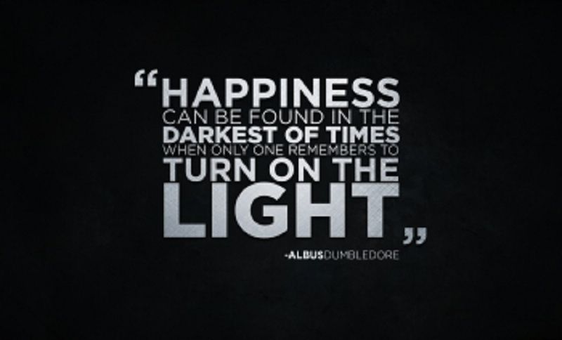 Happyness Quote #Darkest, #Light