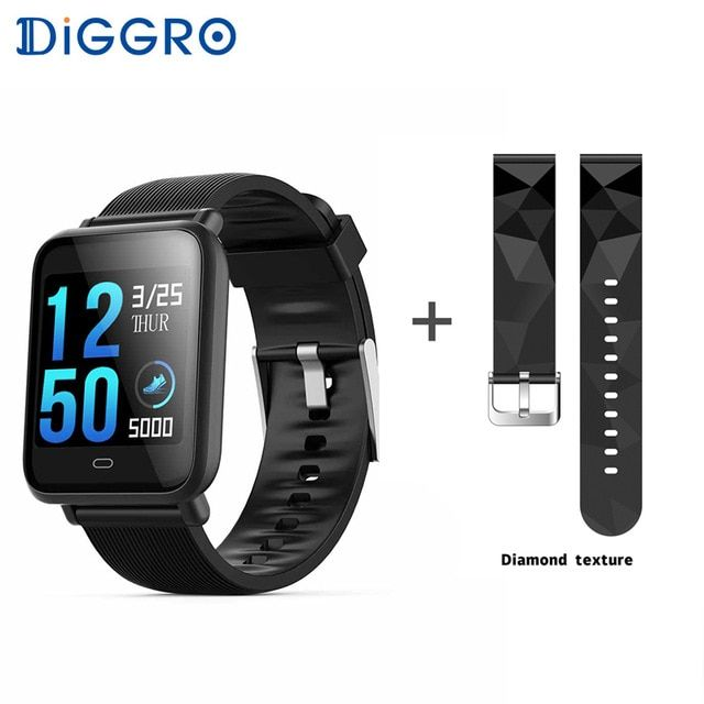 8465cfc935b2 Diggro Q9 Smart Watch Blood Pressure Heart Rate Monitor IP67 Waterproof  Sport Fitness Trakcer Watch Men