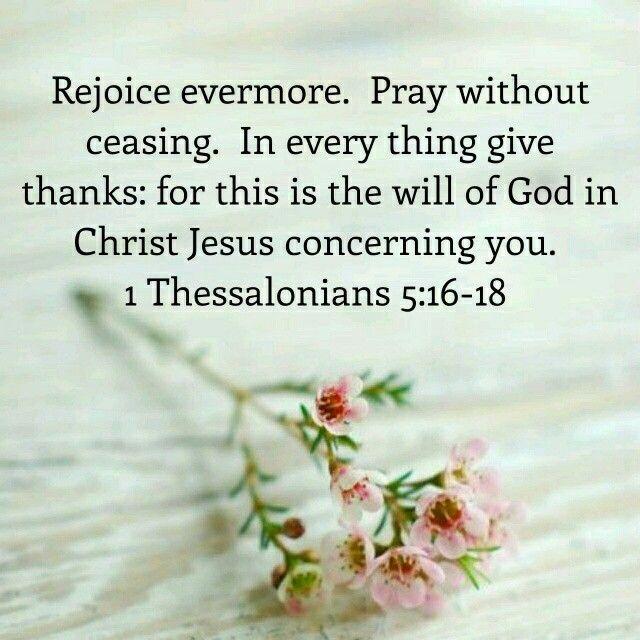 Image result for 1 Thessalonians 5:16-18 kjv