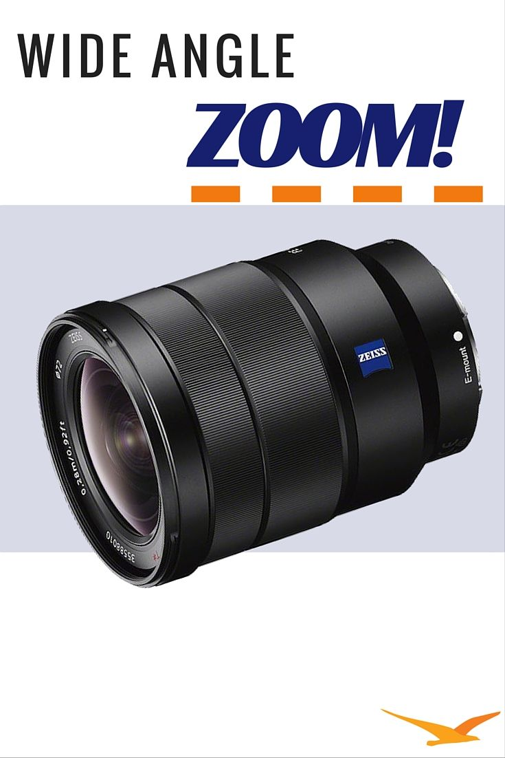 This Sony SEL1635Z Full-frame E-Mount Lens features a wide-angle ...