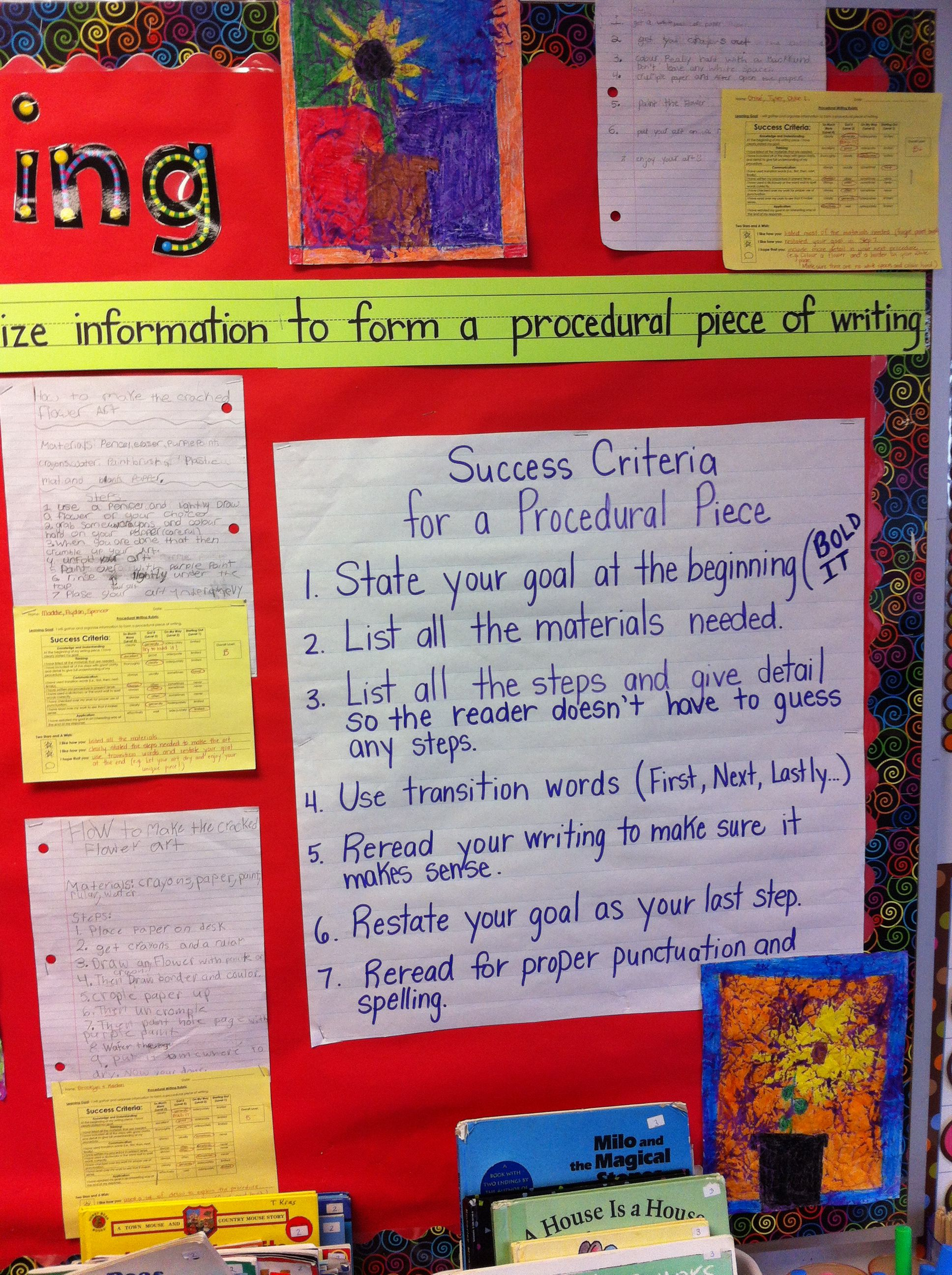 Procedural Writing Other View