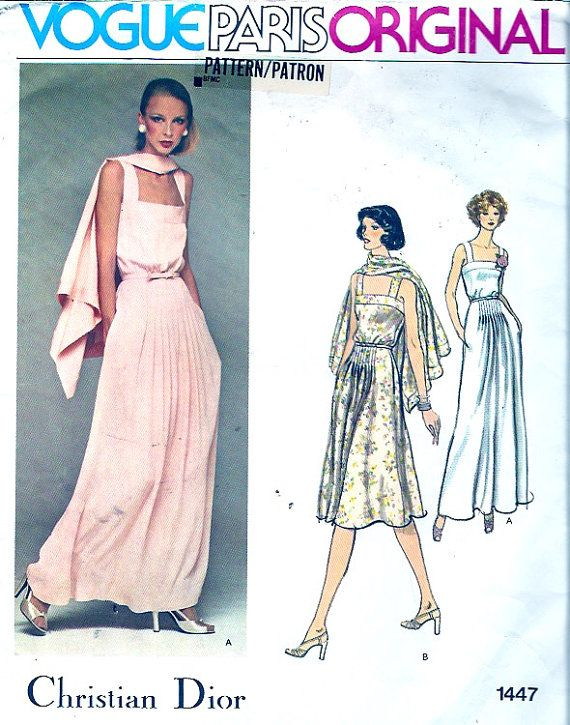 Designer Christian Dior Dress Evening gown sewing pattern Mother of ...