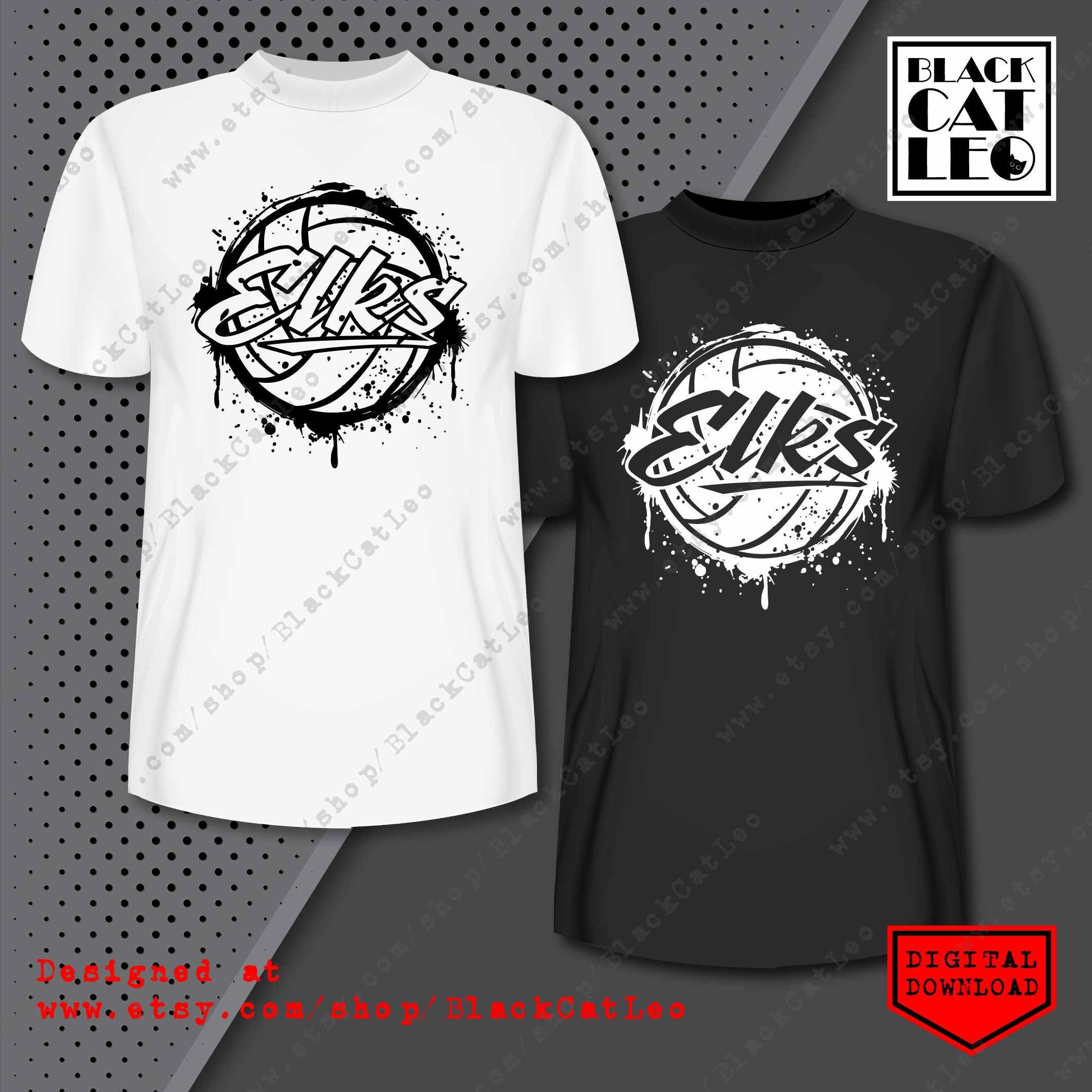 Elks t shirt design sublimation png Grunge Volleyball ball