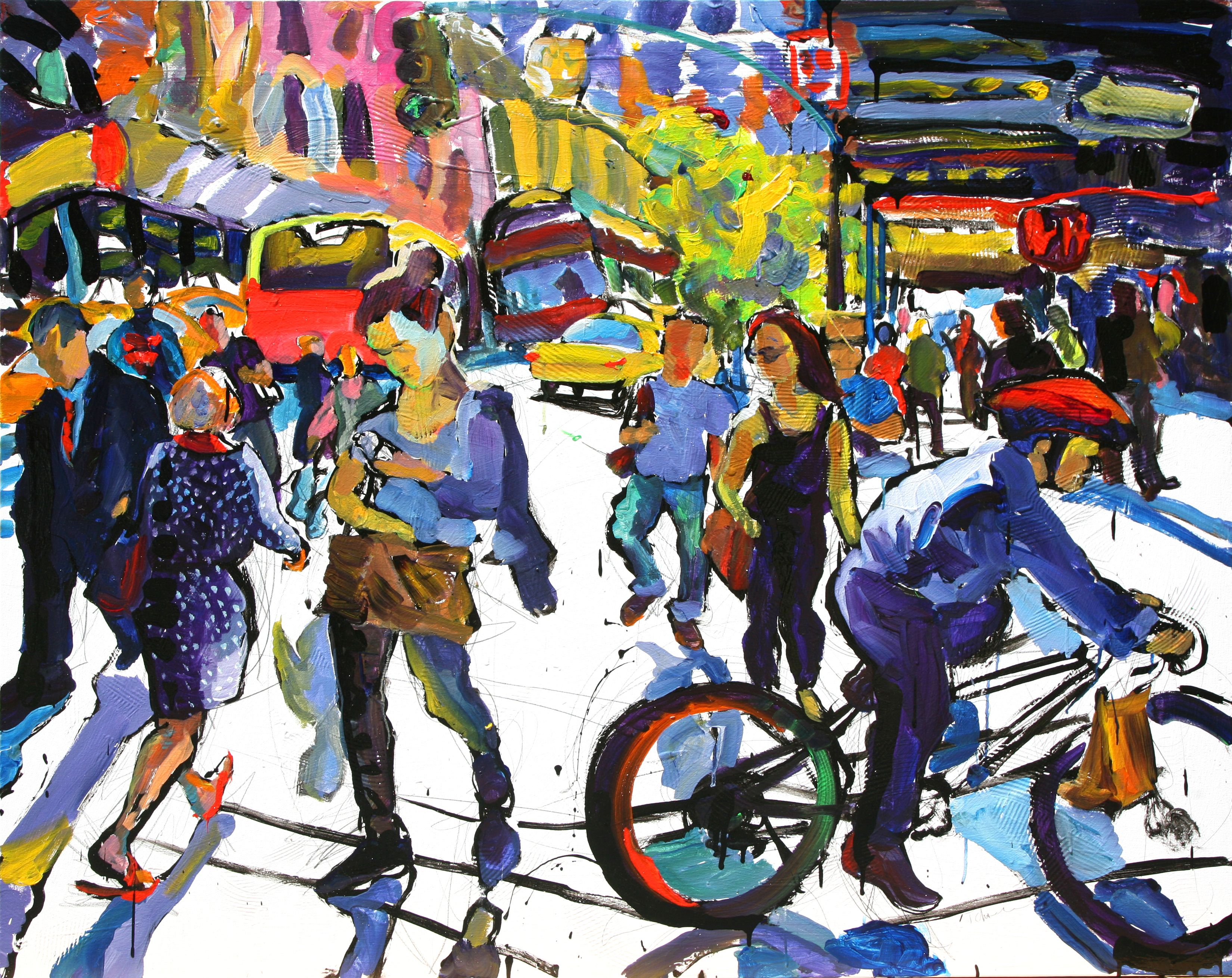 Eleven Thirty Too Early For Gin 36 X 48 Art Painting Urban Art