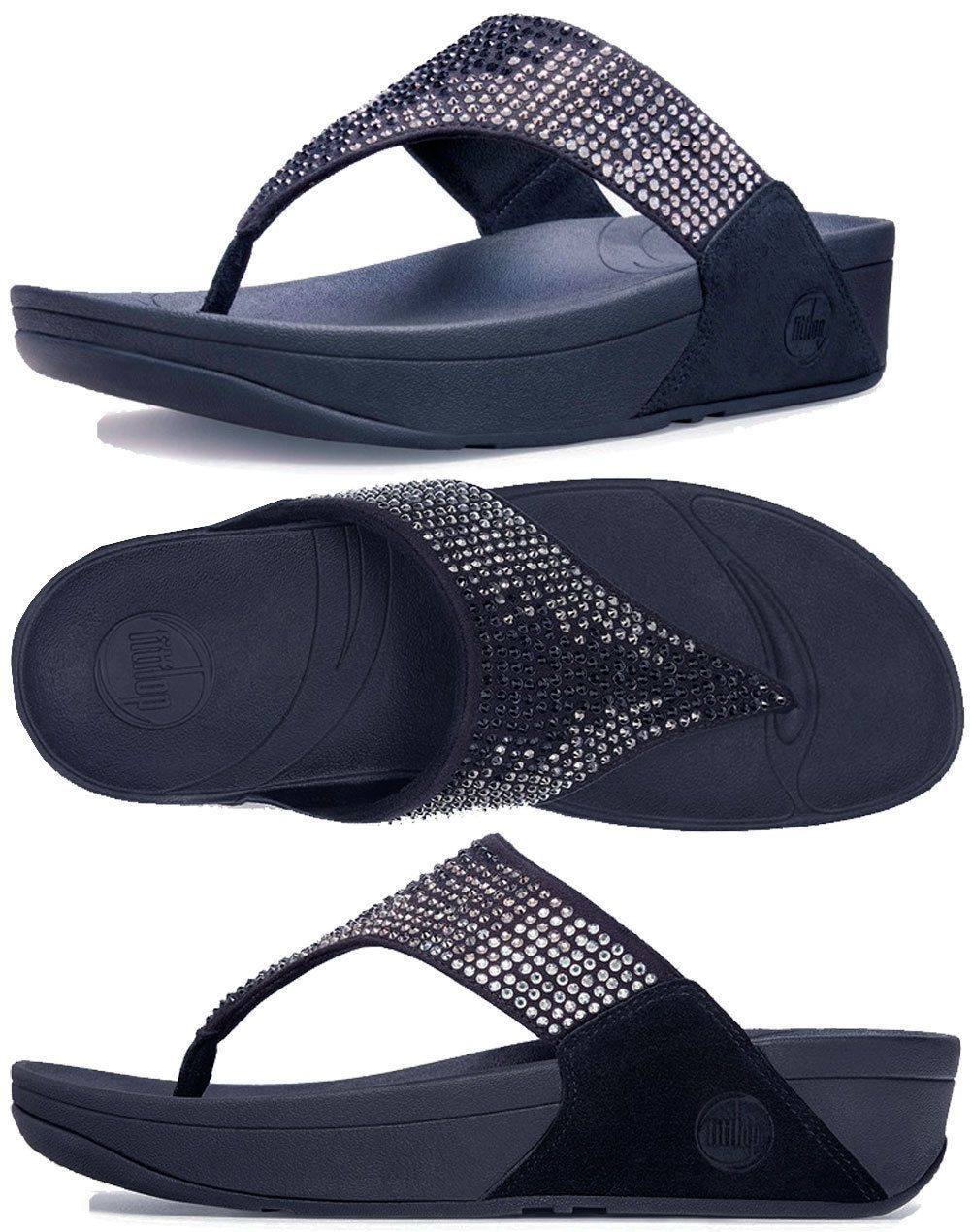 0f2373a1524d2 Fitflop Flare Supernavy Flip Flop Women S Sizes 5-11 36-42 !!!