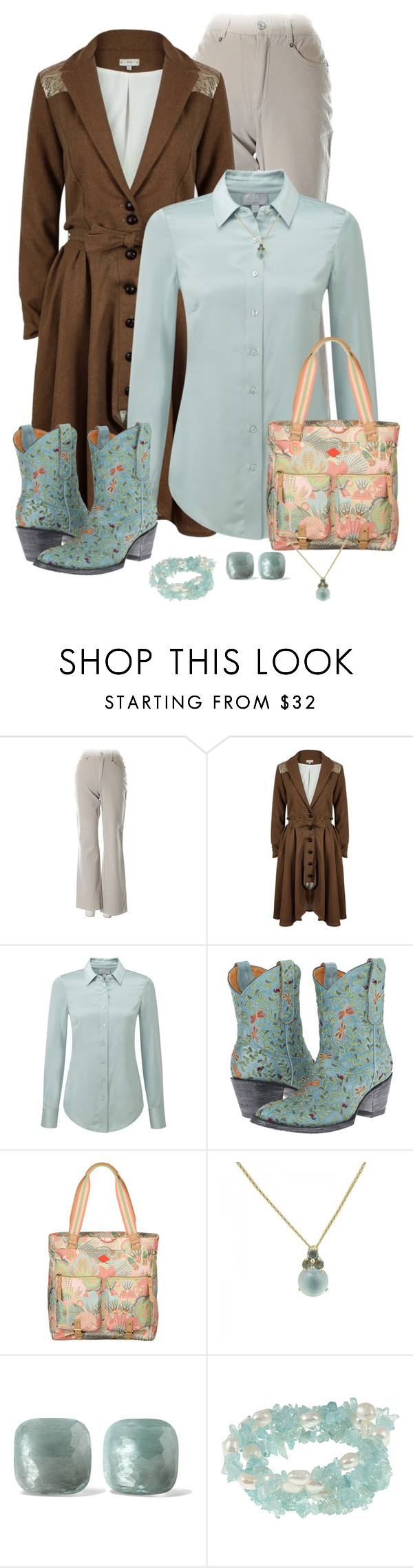 """Heels"" by susan0219 ❤ liked on Polyvore featuring A - M M - E, Pure Collection, Old Gringo, Pomellato and DaVonna"