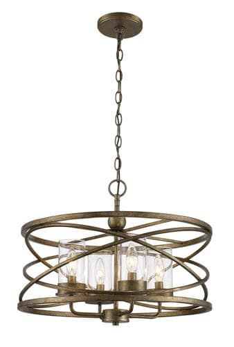 Bel Air Lighting Metal Caged 4 Light Chandelier