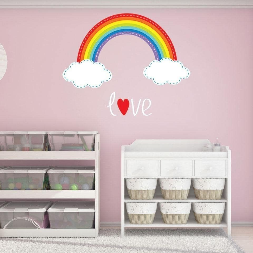 Style and apply rainbow stitch wall decal products pinterest
