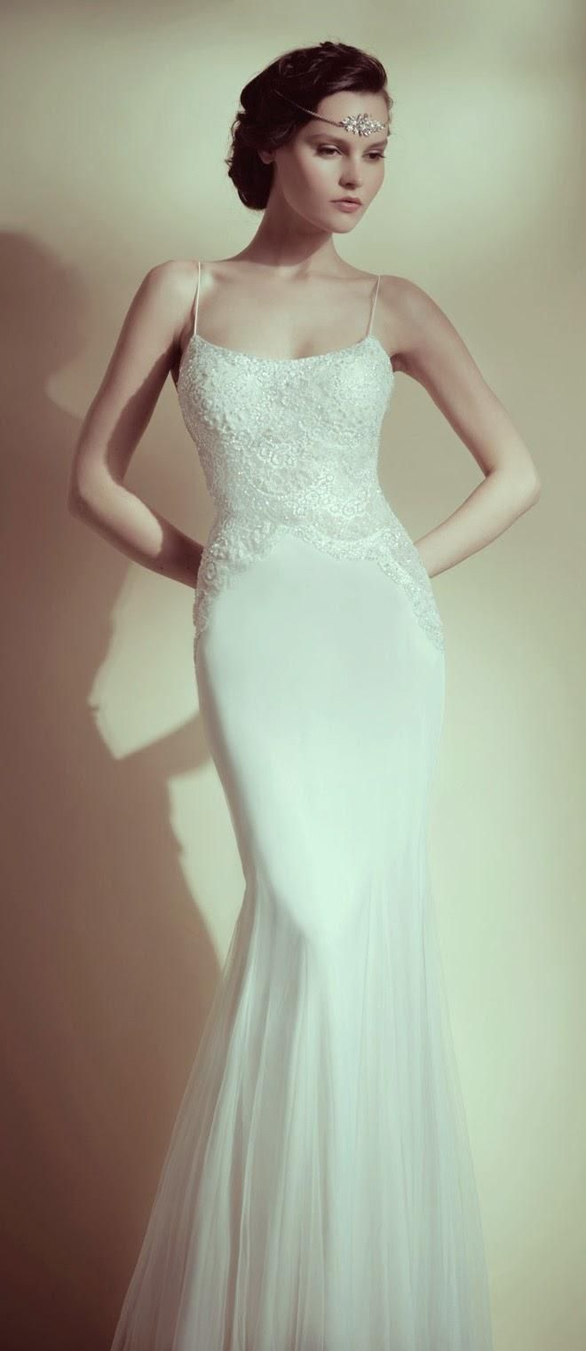 spaghetti straps, mermaid, 20\'s style dress | Wedding | Pinterest