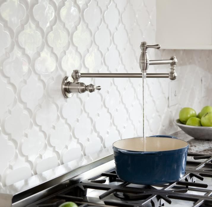 Beveled Arabesque Glazed Ceramic Tile Mission