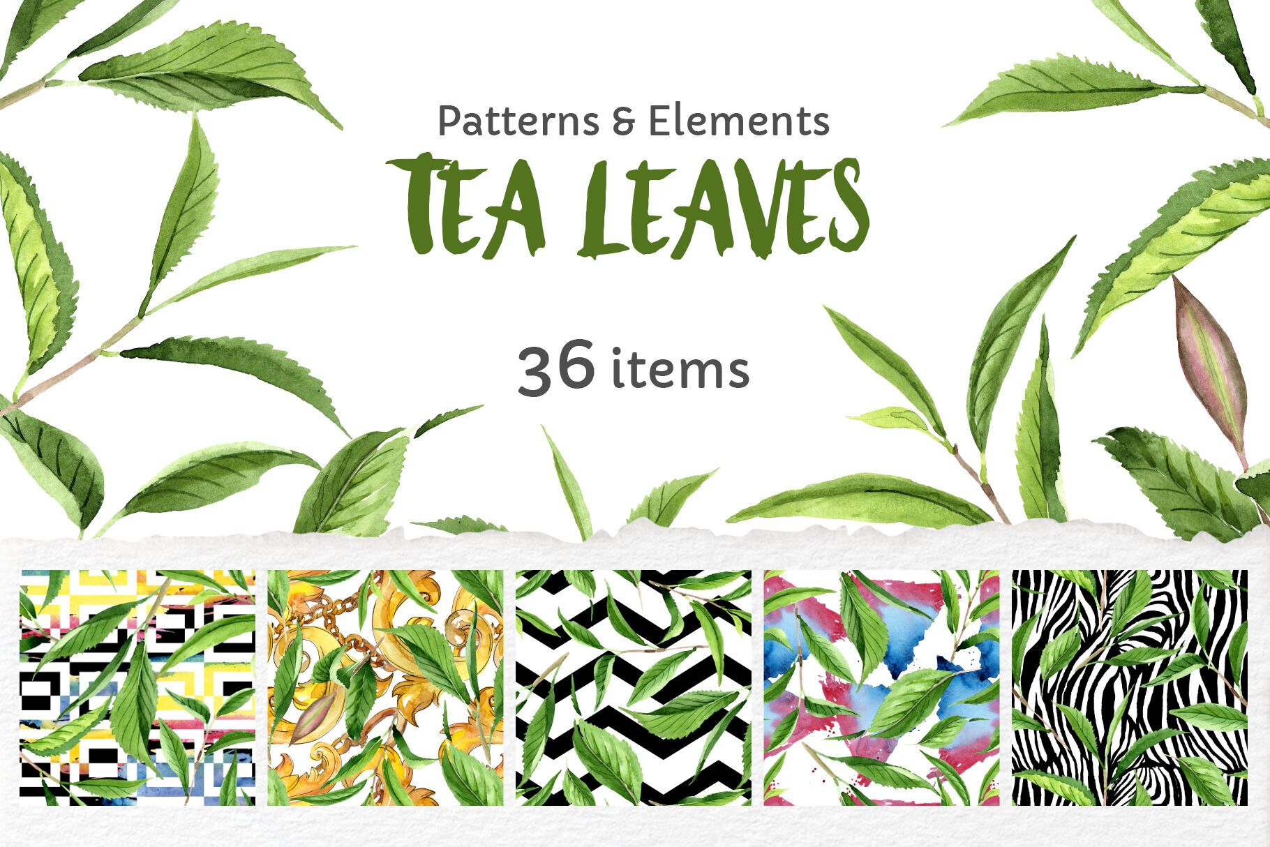 Green Tea Leaves Watercolor Png By Mystocks Thehungryjpeg Com Leaves Affiliate Tea Green Watercolor Adver Tea Leaves Graphic Illustration Clip Art