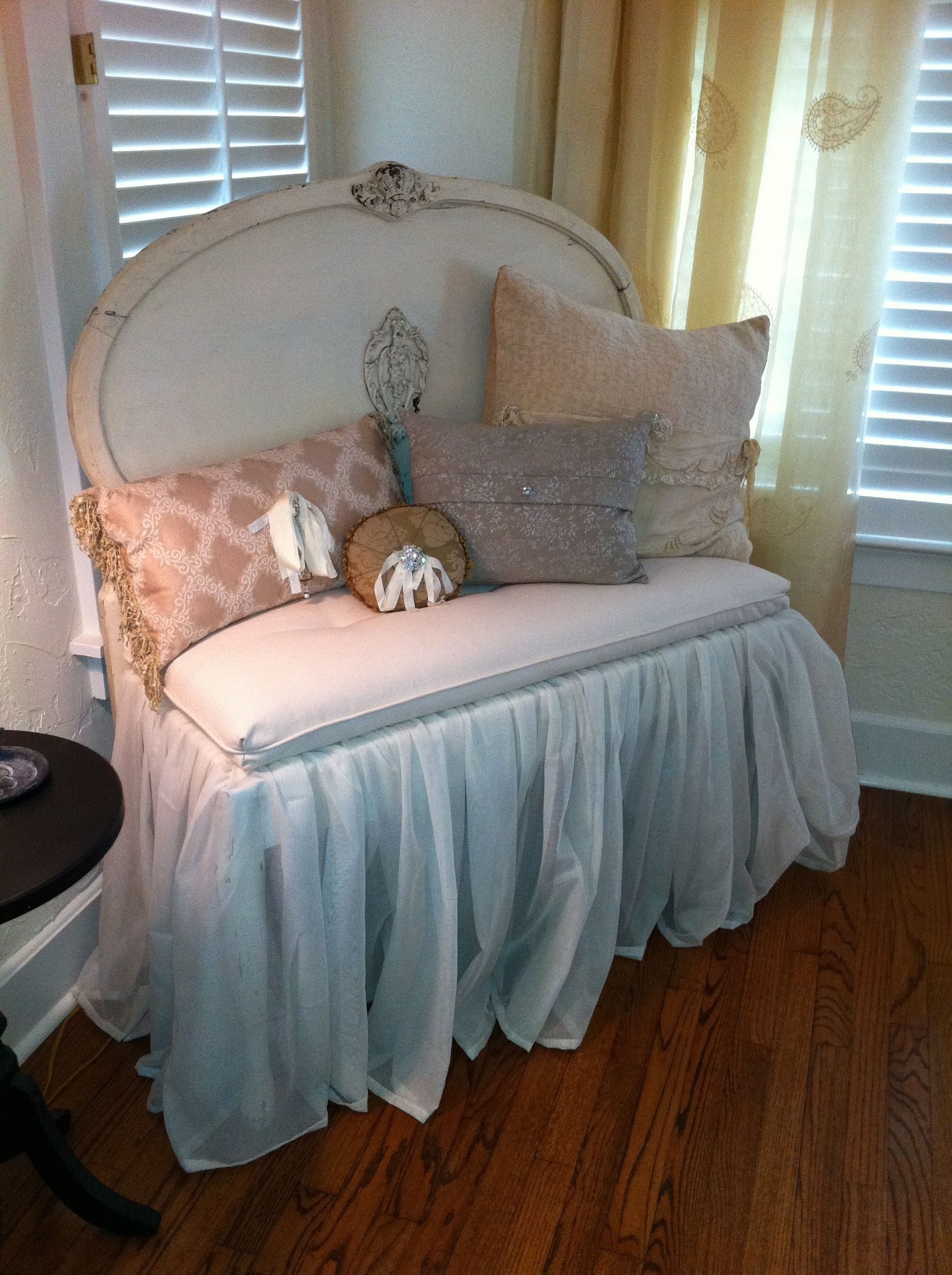 A Wonderful Bench Made From A Twin Bed. Purchased From My Favorite Room In  Mckinney, Texas