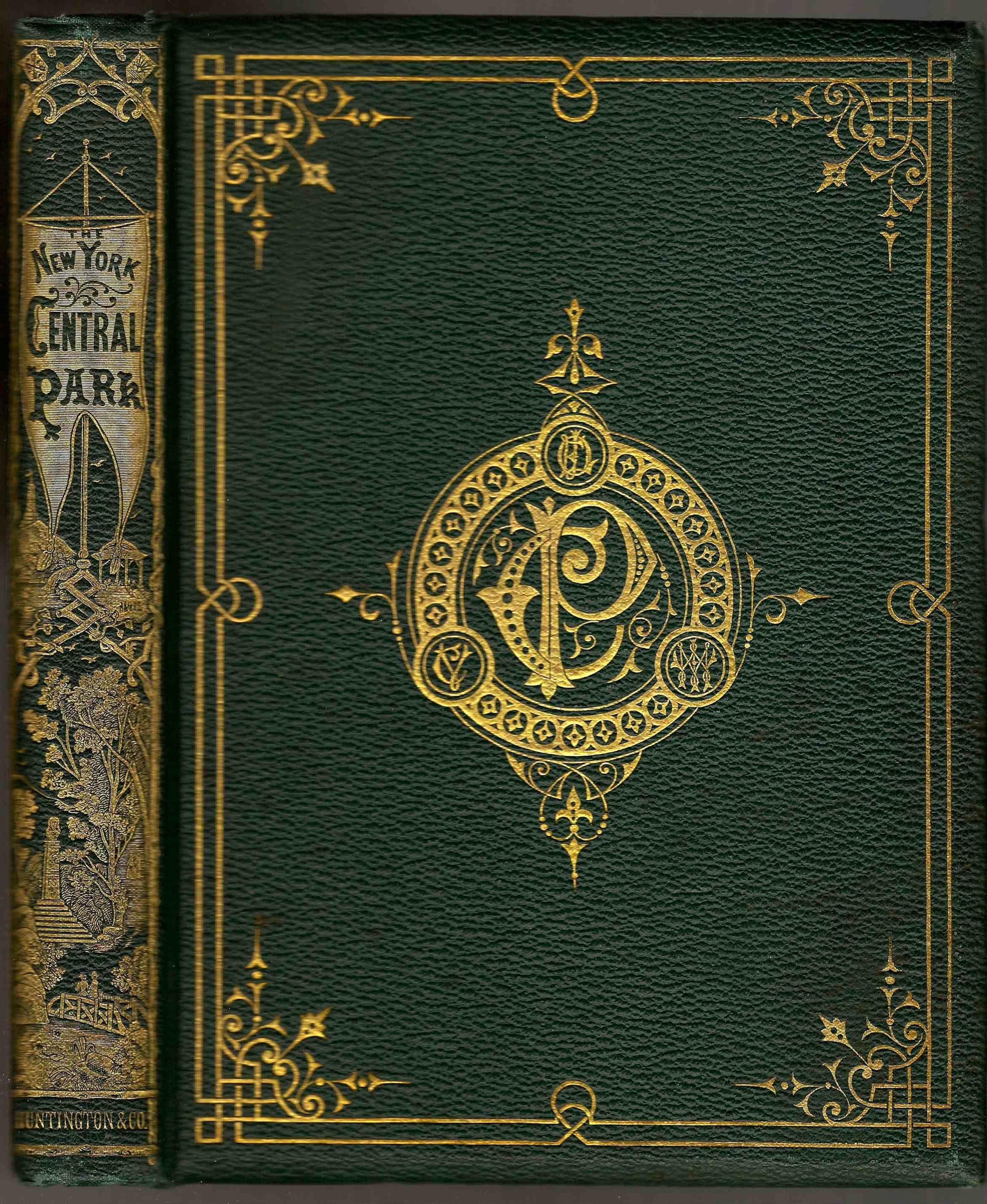 Vintage Book Cover Template : A description of the new york central park loki cover