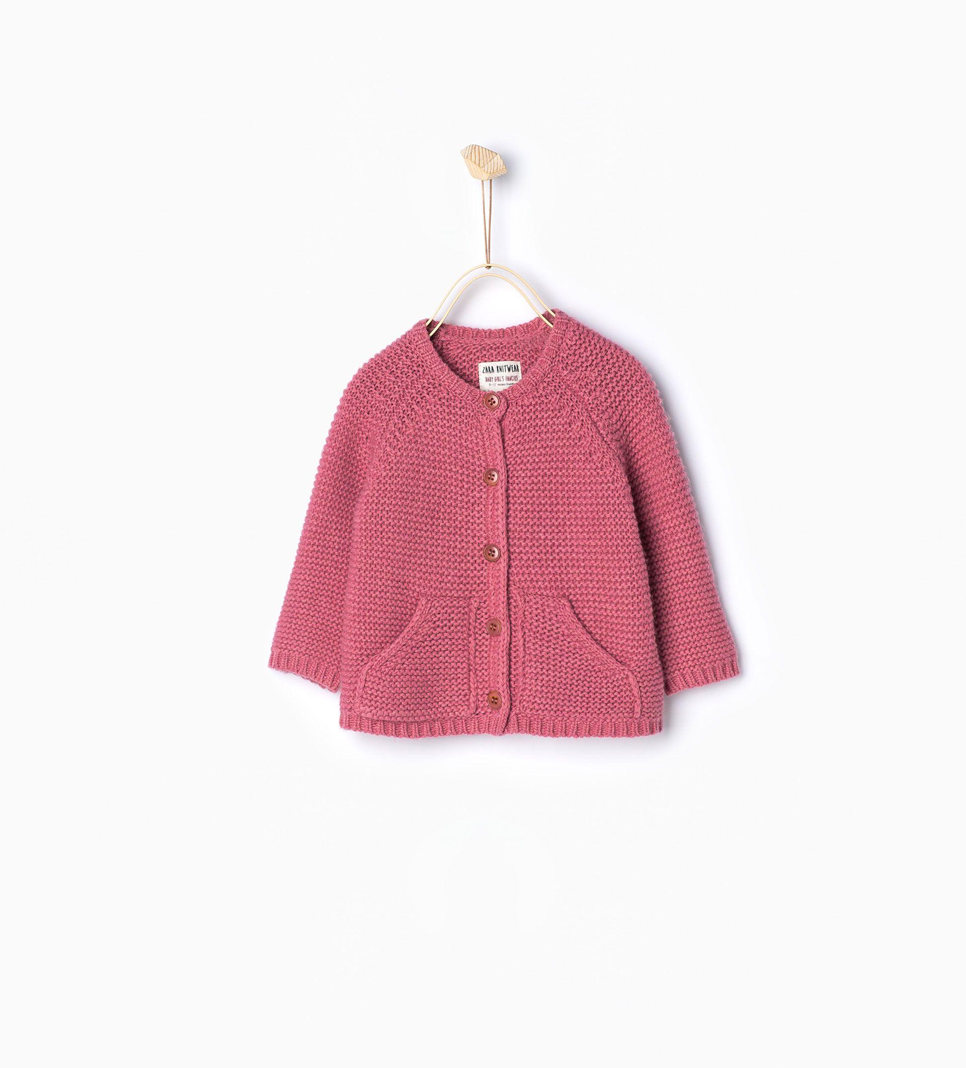 a19b0df6a Chaqueta punto bolsillos - Chaquetas y jerseys - Bebé niña | 3 meses - 4  años - NIÑOS | ZARA España