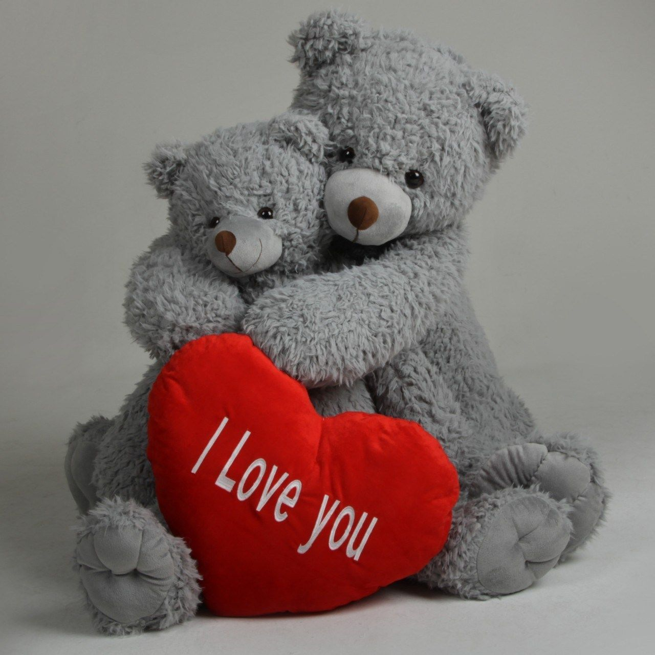 Elegant Big Bear For Valentines Day. Sugar Kisses Valentines Teddy Bears With Heart  I Love You