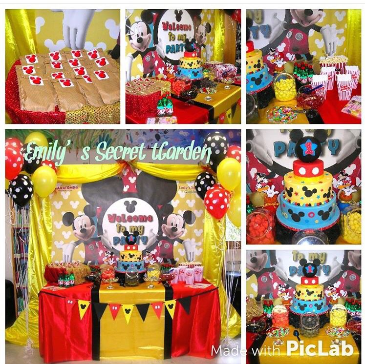 Festa Tema Topolino Mickey Mouse Party Emily S Secret Garden Nel