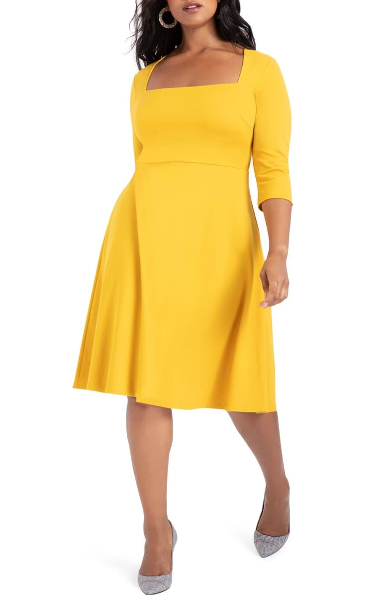 Eloquii Fit Flare Ponte Dress Plus Size Nordstrom Ponte Dress Fashion Clothes Women Dresses [ 1196 x 780 Pixel ]
