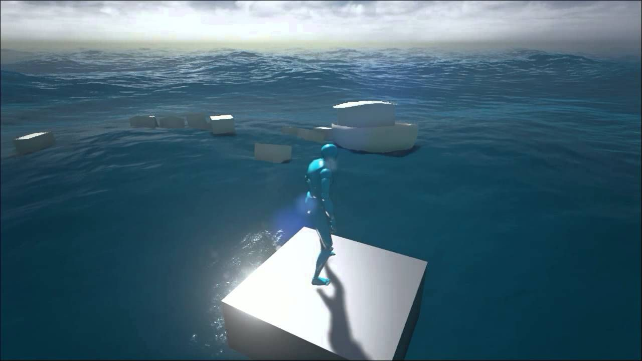 Dynamic water with floating objects | Unreal References