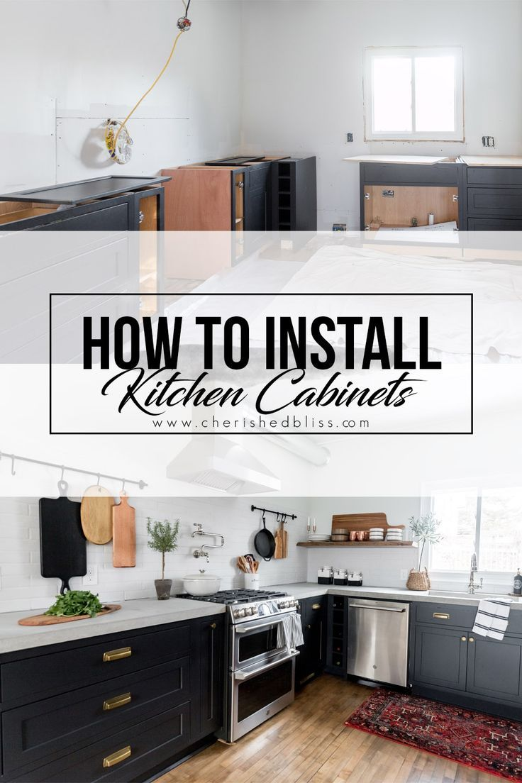 How to Install Kitchen Cabinets Yourself | Installing ...