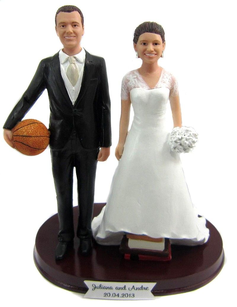 Short Bride And Tall Groom Wedding Cake Topper   Customized To Look Like  You!