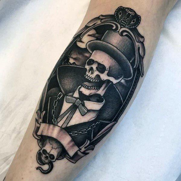 skeleton grim repear cobra mens orante snake tattoo on arm tattoo pinterest snake tattoo. Black Bedroom Furniture Sets. Home Design Ideas