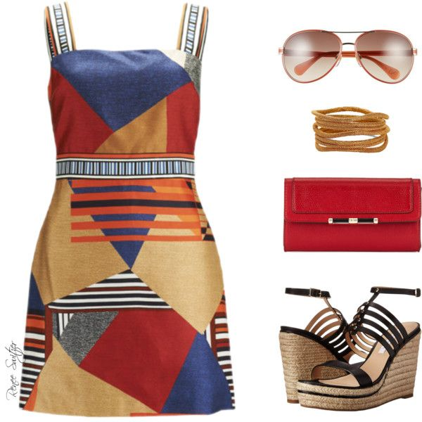 A fashion look from March 2015 featuring Diane Von Furstenberg dresses, Diane Von Furstenberg sandals and Diane Von Furstenberg wallets. Browse and shop relate…