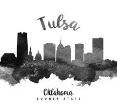 Tulsa Skyline Royalty-Free and Rights-Managed Images - Tulsa Oklahoma Skyline 18 by Aged Pixel