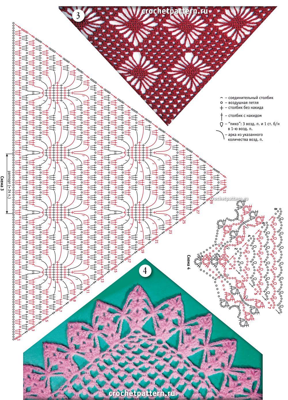 Página №57. Padrões e padrões para crochet. | Cajas de regalo ...