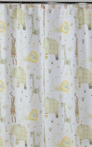 Creative Bath Products S1022nat Animal Crackers Shower Curtain