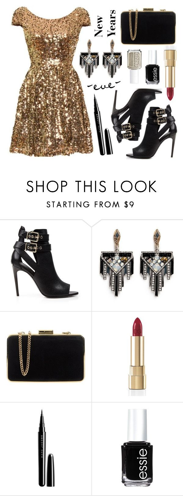 """NYE Party Contest Entry"" by hailstorm7516 ❤ liked on Polyvore featuring Burberry, Lulu Frost, MICHAEL Michael Kors, Dolce&Gabbana, Marc Jacobs, Essie, women's clothing, women's fashion, women and female"